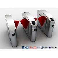 Buy cheap ADA Retractable Security Flap Turnstile Barrier Gate DC24V 20W For Wide Lane Solution product
