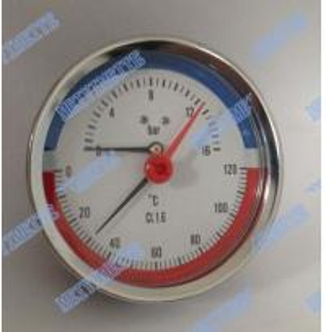 Buy cheap 80mm Steel case  temperature pressure gauge , brass stem back pressure gauge product