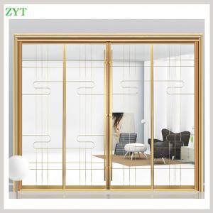 China Interior large decorative sliding glass doors factory on sale