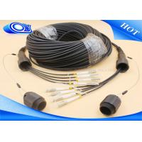 Buy cheap Black Color 4 Core MMF Simplex Tactical Fiber Cable LC / UPC IP67 PDLC Connector product
