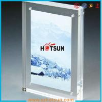Buy cheap High quality clear square double sided acrylic photo frame with magnets product