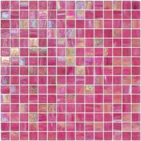 Elegent Pink color with gold line glass mosaic mix pattern 20x20mm piece