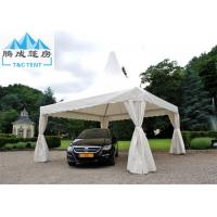 Quality Aluminium Alloy White PVC Marquee Party Tent 8x8M , Outdoor Wedding Tent European Style for sale