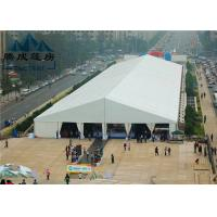 20M Modern Style Trade Show Tents Wooden Floor Inside For Exhibition Event