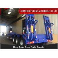 Buy cheap 3 Axles Transport Heavy Duty Equipment 60 Tons Lowboy Trailer from wholesalers