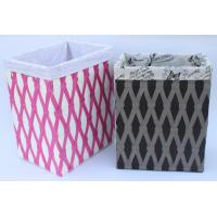 Buy cheap Rope woven hamper, paper storage basket, laundry basket with facric lining, from wholesalers