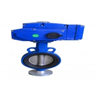 Buy cheap Wafer Gear Type Large SS304 Manual Butterfly Valve product