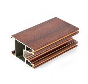 Buy cheap 6063 T3 2.0mm Wood Finish Aluminium Profiles For Door product
