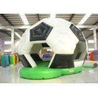 Buy cheap Football Design Bounce Round Bounce House , Soft Inside Bounce House Fire Resistance product