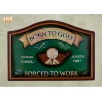 Buy cheap Golf Club Wall Decor Antique Wooden Wall Signs Decorative Golf Wall Plaques Green Color product