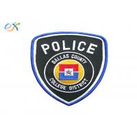 Buy cheap Professional Police Embroidered Patch Polyester Background Fabric With Merrowed Border product