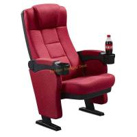 Buy cheap Comfortable High Density Foam Cinema Theatre Seats With Cup Holder from wholesalers
