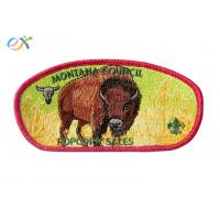 Buy cheap 100% Embroidery Boy Scout Patches Polyester Material With Merrow Border product