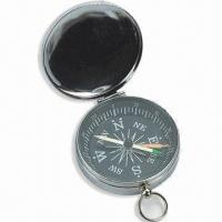 Buy cheap Mini Compass with Plastic Case, Small Metal Ring on Top, Customized Colors are Welcome product