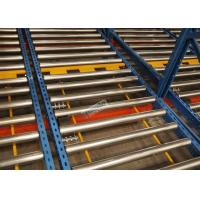 R - Mark Approval 15 Pallet Deep Flow Rack Shelving For Large Volume Homogeneous Goods
