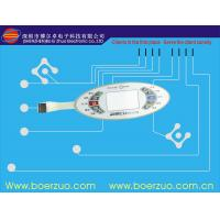 Buy cheap Screen Printing Customized PET Graphic Overlay With Embossed Keypad product