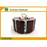 Buy cheap Customized 200 Pieces Poker Chips Sets With Wooden Tray 40x3.3mm product