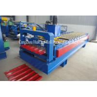 Buy quality Hydaulic Roofing Sheet Metal Roll Forming Machines / Steel Sheet Bending Machine at wholesale prices