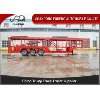 Buy cheap Tri-Axles 10 Car Transporter Trailer , Auto Vehicle Transport  Trailer product