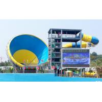 Buy cheap Big Fiberglass Tornado Water Slide For Adults , 14.6m Platform Height from wholesalers