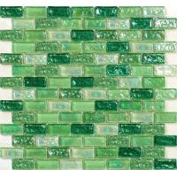 Spring greening water waving glass mosaic tile for fountain