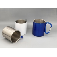 Buy cheap Double Walled Insulated Silver 250ml Camping Cups product