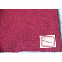 Buy cheap Dark Red Wool Fabric In Stock 5 Cashmere , 60% Wool Suiting Fabric For Women Winter Skirts product