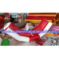 Water Sport Toys Inflatable Water Seesaw / Kids Seesaw Pool Float in Red and White