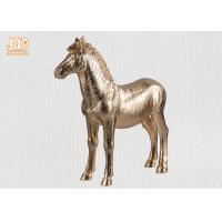 Buy cheap Decorative Gold Leaf Polyresin Animal Figurines Horse Sculpture Table Statue product