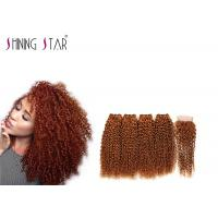 Buy cheap Healthy Curly Human Hair Extensions , Four Curly Human Hair Weave Bundles product
