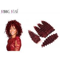 Buy cheap 99J Deep Wave Indian Hair Bundles For Black Woman Machine DoubleTight Weft product