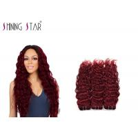 Buy cheap 10-26 Inch Water Wave Braiding Human Hair / Red 99J Remy Water Wave Weave product