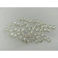 Mini Round Loose Moissanite Gemstone Brilliant Cut For Cluster Setting Manufactures