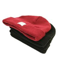 Buy cheap Popular unisex warm all colors customize woven label winter knitted boonies hats product