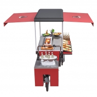 Buy cheap Fried Hot Dog BBQ Leisure Vending Grill Food Cart product