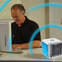 Buy cheap USB Mini Protable Air Conditioner Humidifier purifier 7 Colors Light Desktop Air Cooling Fan Office Home Air Cooler product
