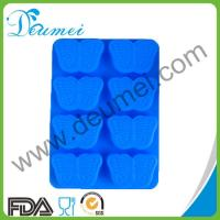 High Quality Blue Color 8-Butterfly Shaped Silicone Baking Cake Mold Puddings Mould