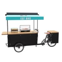 Buy cheap Large Storage Electric Tricycle Food Cart , Bike Vending Cart CE Certificate product