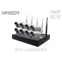 Buy cheap Waterproof 1.3MP 8CH NVR Kit 960p HD NVR Wireless IP Camera For Factory from wholesalers