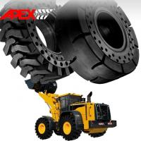 Buy cheap APEX 23.5-25 Solid Tire, Cushion Tyre for Wheel Loader, Integrated Tool Carrier, Elevating Motor Scraper product