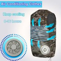 Buy cheap Factory Fan Cooling Suit Vest High Temperature Protective Clothing Heatstroke Cooling Vest Air Conditioning Short-sleeve product
