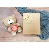 Buy cheap Gold Small Cardboard Gift Boxes With Gold Bowknot , Individual Cardboard Boxes product