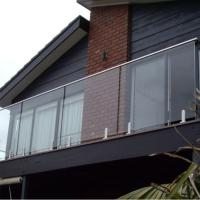Buy cheap Customized framless stainless steel spigot glass railing pool fence product