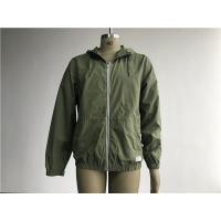 Buy cheap 100 Green Cotton Hooded lightweight Jacket Mens Medium Trench Coat Matt Sliver from wholesalers