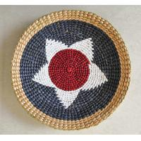 Buy cheap 100% handwoven hanging dectoration with rush and paper material,hot sale with morden design product
