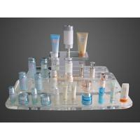 Buy cheap Eco Friendly Customize Acrylic Makeup Case Organizer Blue Mirror Protection product