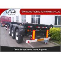 Buy cheap 45ft Chassis Container Trailer Three Axles Skeletal Semi Trailer Truck First Axle Lift product
