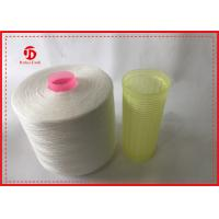 1.67kg / Cone Raw White 100% Polyester Ring Spun Yarn Paper Cone For Sewing