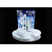 Buy cheap Advertising Sticker Printing White Acrylic Makeup Display Stand 4mm 5mm Thickness product