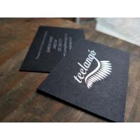 Buy cheap Silver Foil Premium Business Cards , Hot Stamping Name Card Custom Design from wholesalers